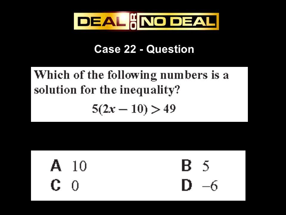 Case 22 - Question