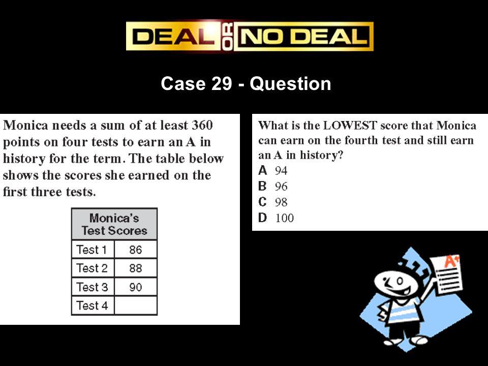 Case 29 - Question