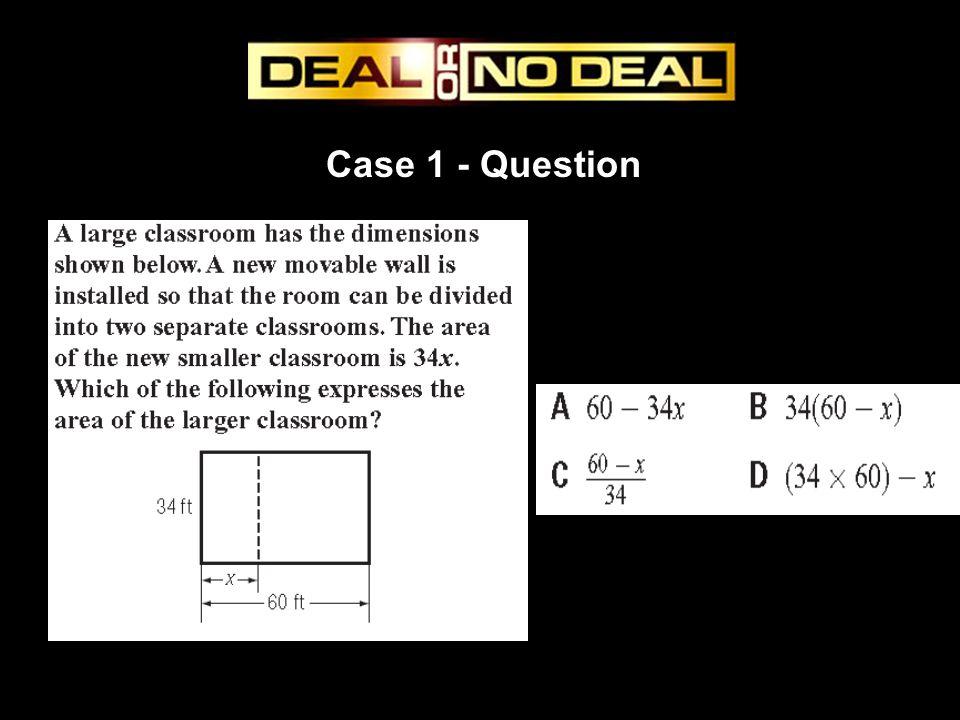 Case 1 - Question