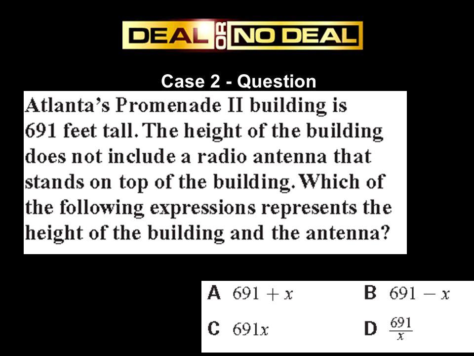 Case 13 - Question