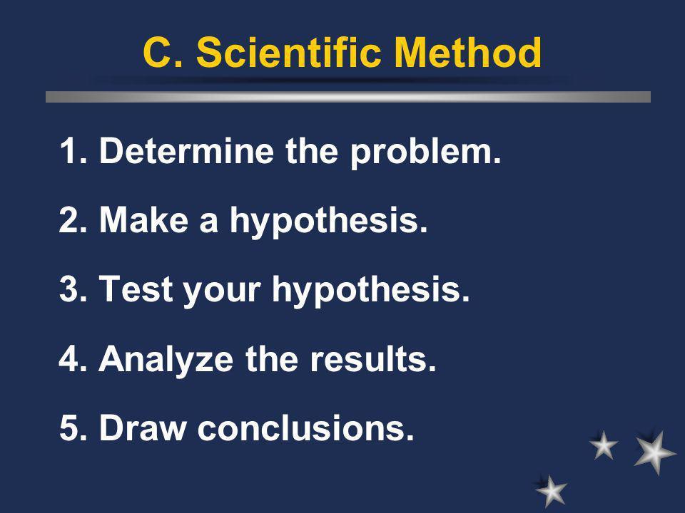 C.Scientific Method 1. Determine the problem.