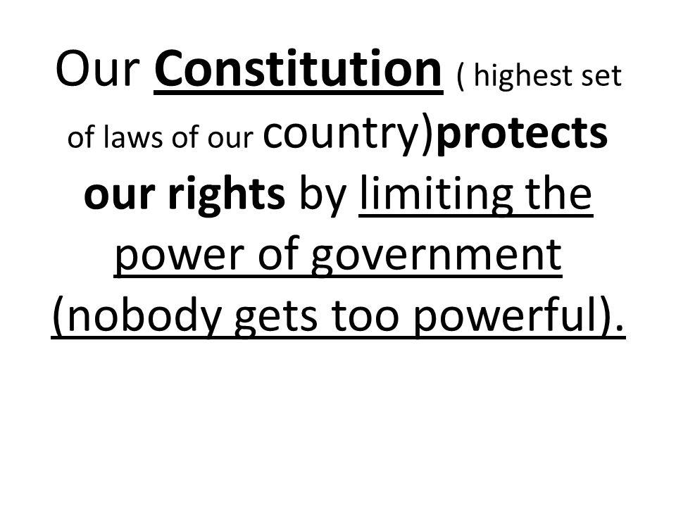Our republic government has 3 branches of equal power ExecutiveJudicialLegislative