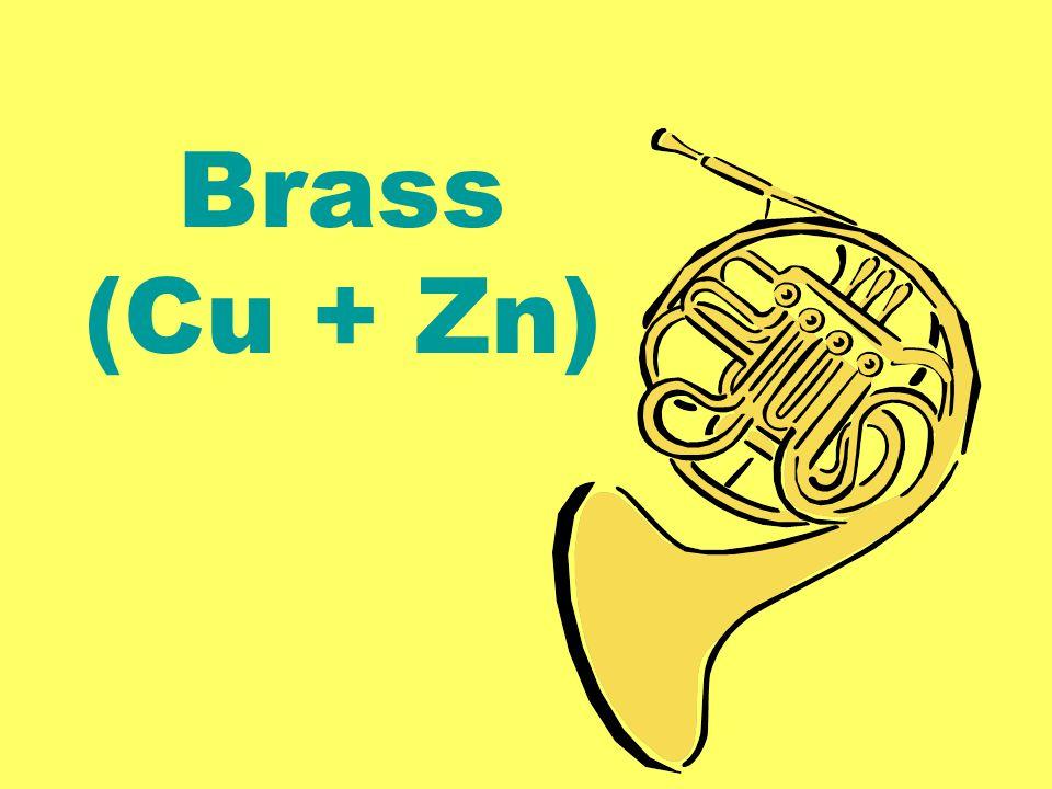 Brass (Cu + Zn)