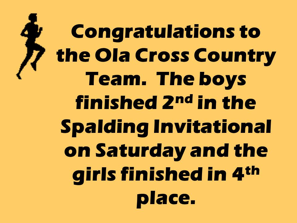 Congratulations to the Ola Cross Country Team.