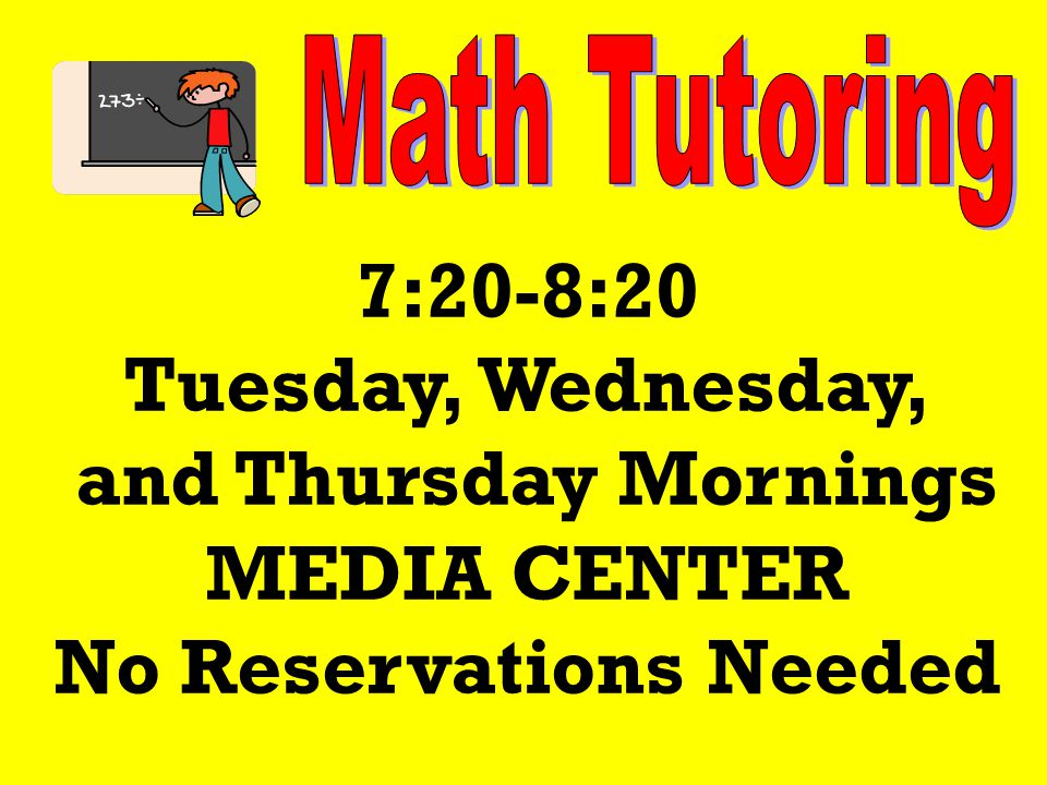Academic team practices are Monday and Wednesday afternoons, 3:30-4:30, and Tuesday mornings, 7:45-8:25 in room 224 It's not too late to join.
