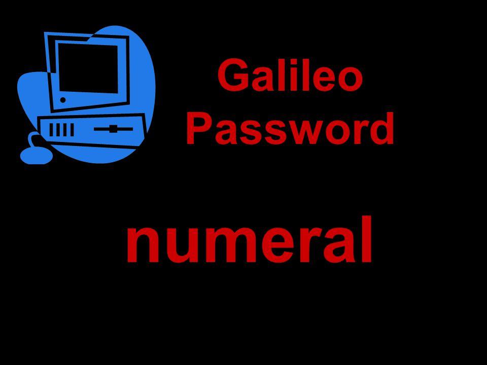 numeral Galileo Password
