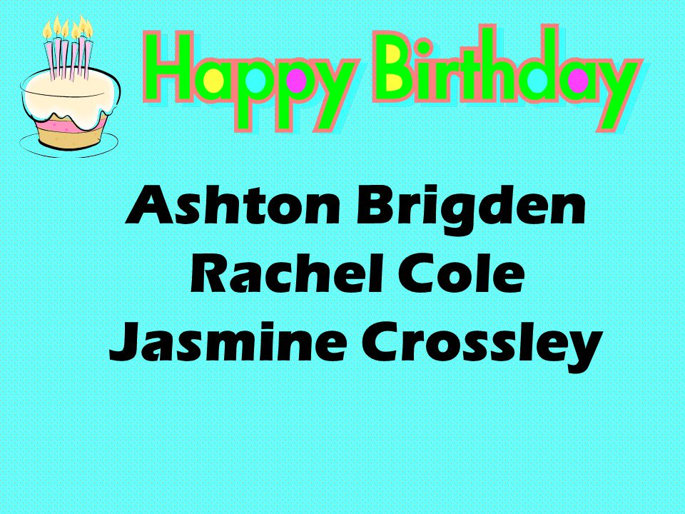 Ashton Brigden Rachel Cole Jasmine Crossley