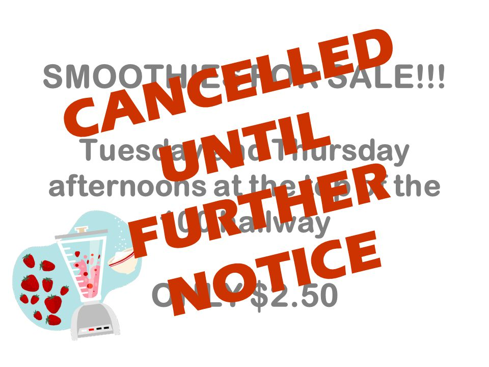 SMOOTHIES FOR SALE!!.