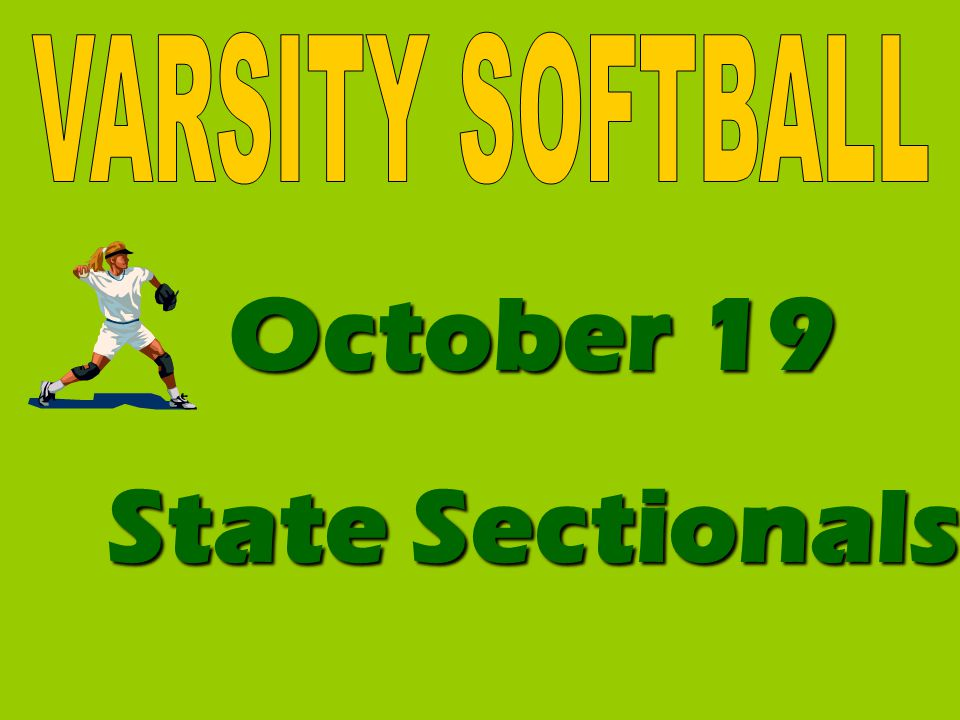 October 19 State Sectionals