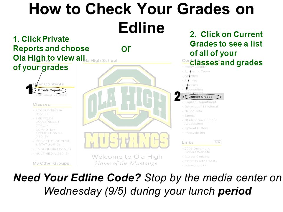 or Need Your Edline Code.