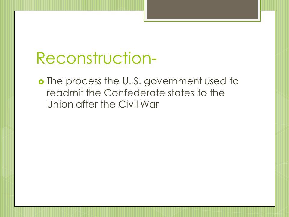 IMPACT OF RECONSTRUCTION ON GEORGIA SS8H6c