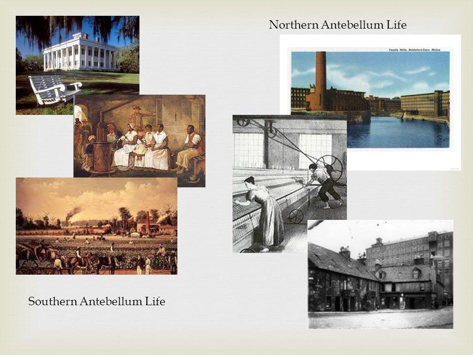 Southern Antebellum Life Northern Antebellum Life