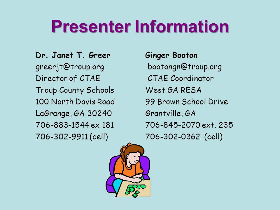 Presenter Information Dr. Janet T.