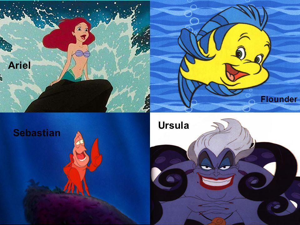 Ariel Flounder Sebastian Ursula