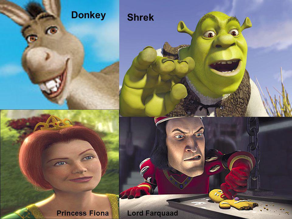 Donkey Shrek Lord Farquaad Princess FionaLord Farquaad