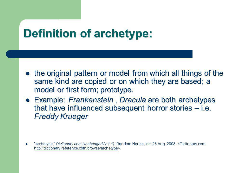 3 Different Practical Archetypes 1.Situation Archetype 2.
