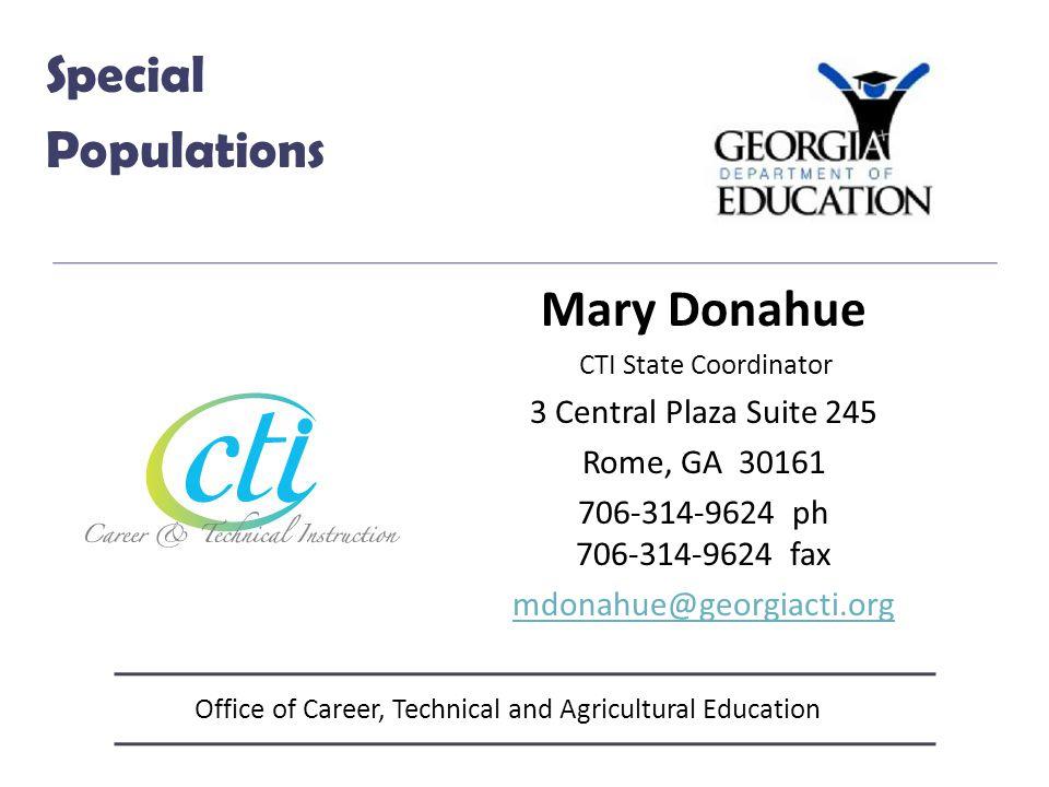 Office of Career, Technical and Agricultural Education Engineering & Technology Ron Barker Program Specialist 404-657-8316 RBarker@doe.k12.ga.us