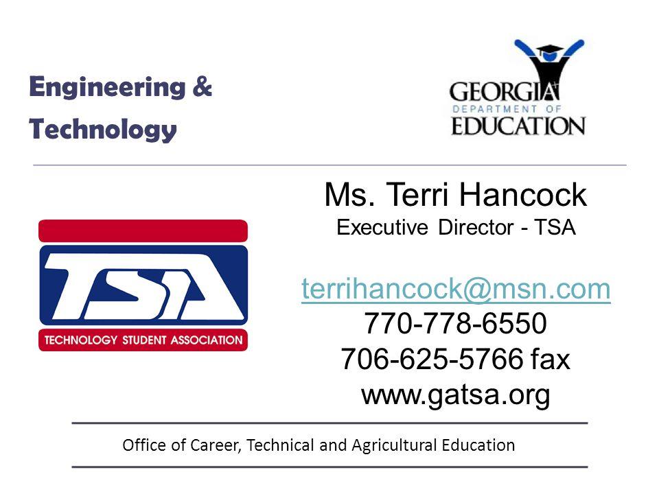 Office of Career, Technical and Agricultural Education FACS, Culinary & Education Laura Ergle Program Specialist 404-463-6406 LErgle@doe.k12.ga.us