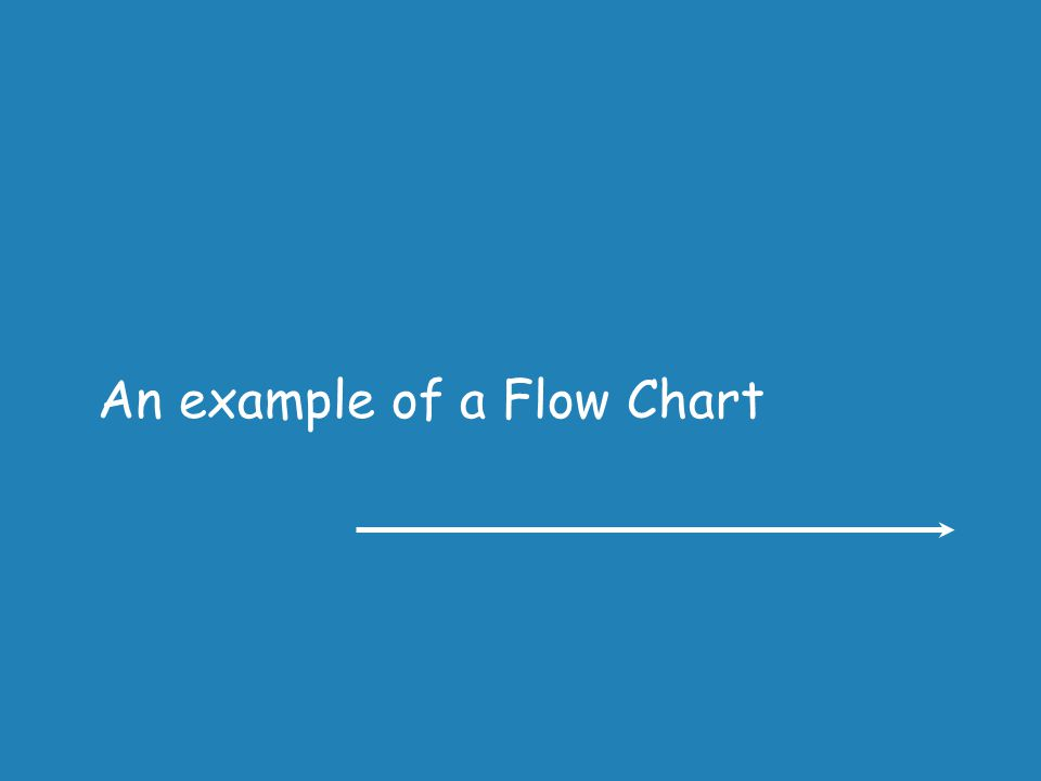An example of a Flow Chart