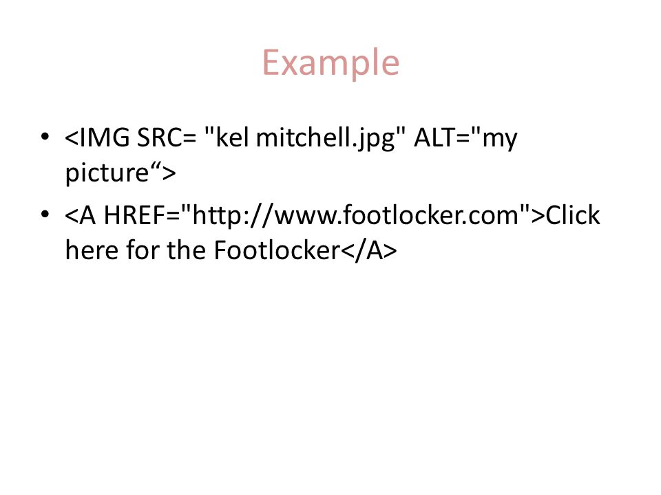 Example Click here for the Footlocker