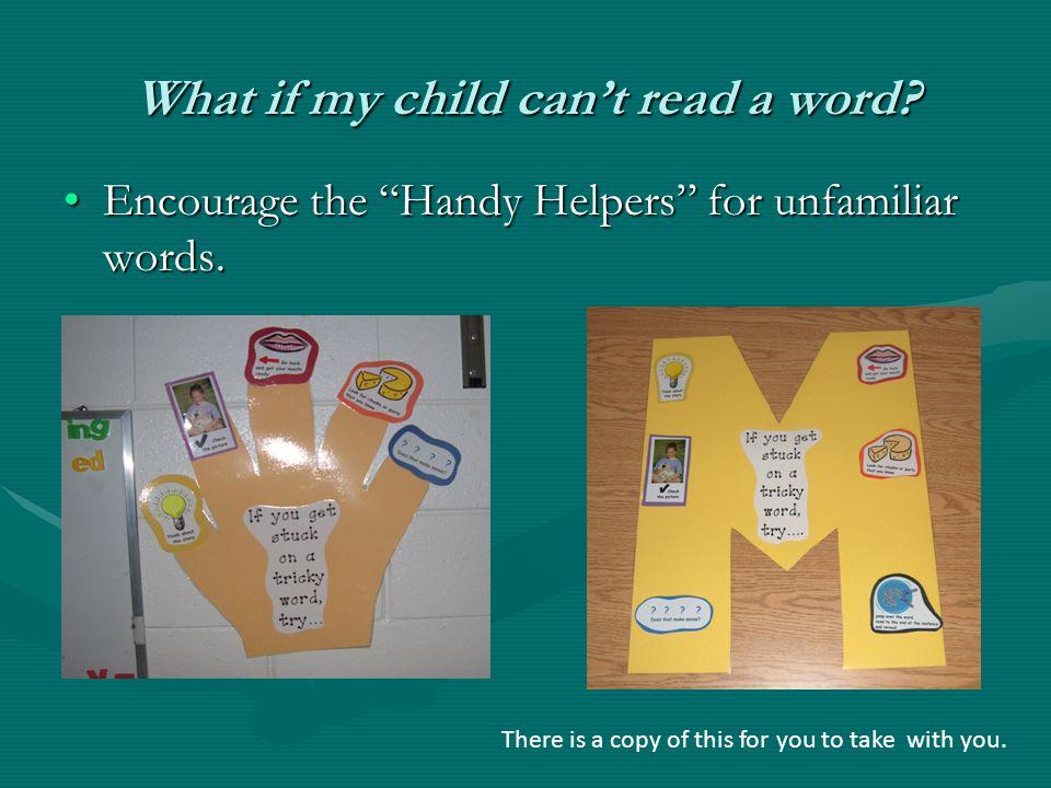 What if my child can't read a word.