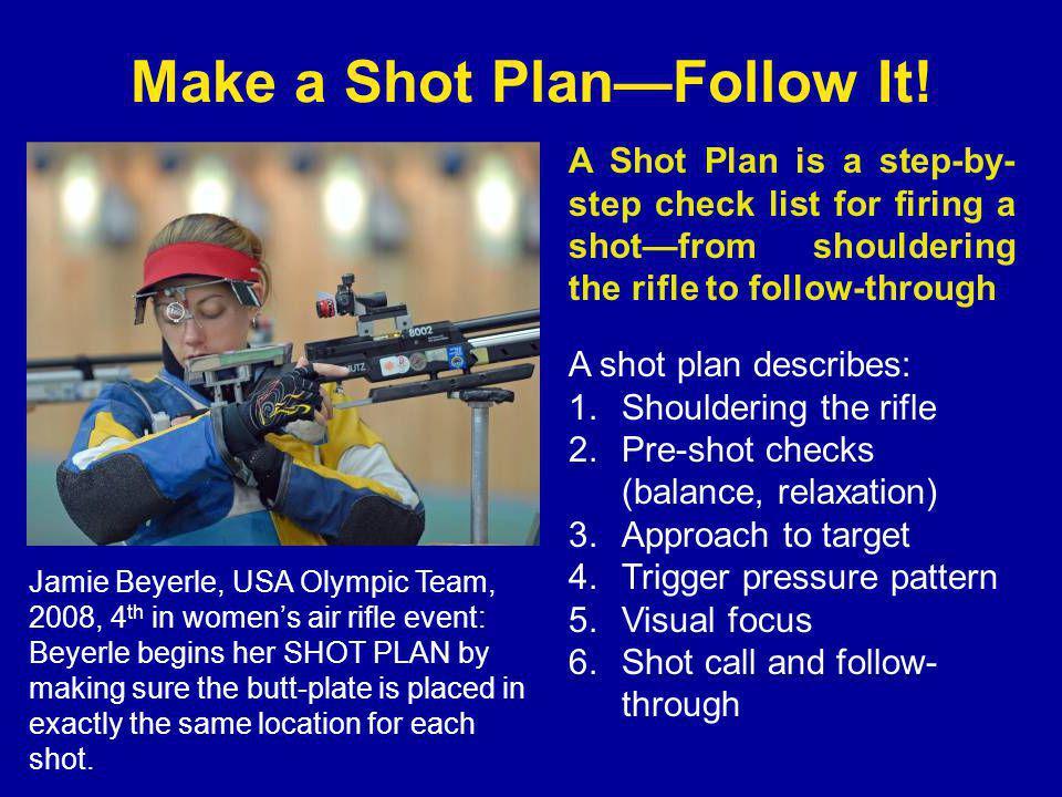 Make a Shot Plan—Follow It.