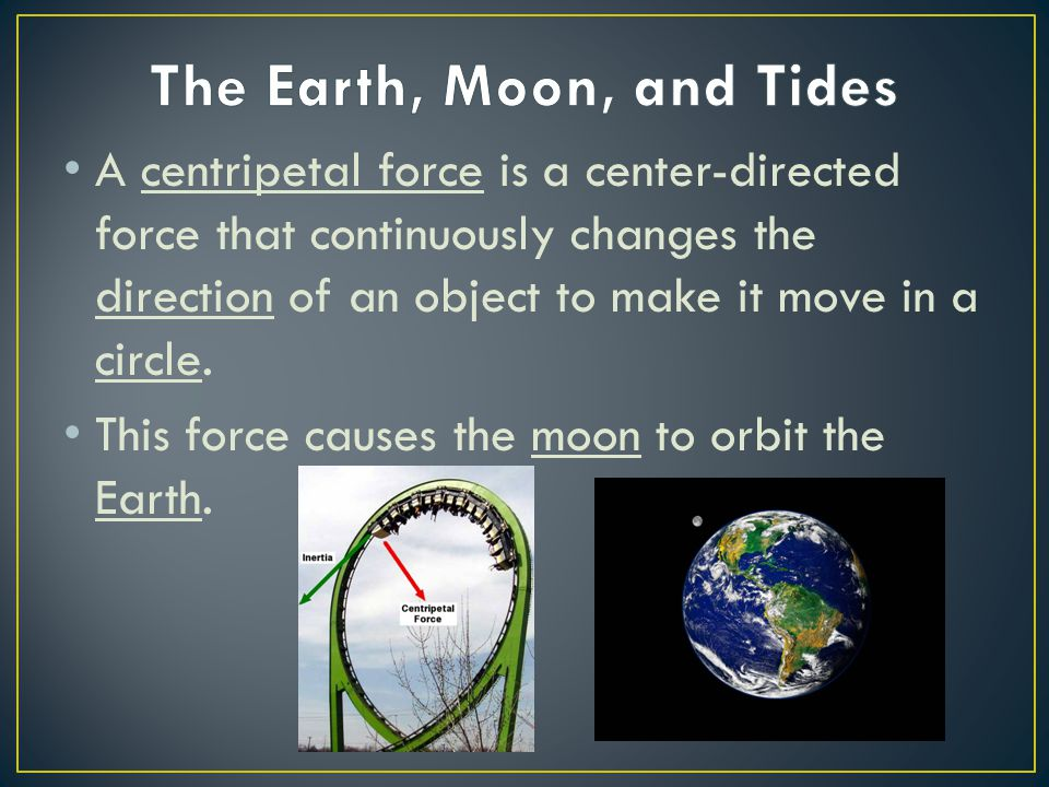 A centripetal force is a center-directed force that continuously changes the direction of an object to make it move in a circle. This force causes the