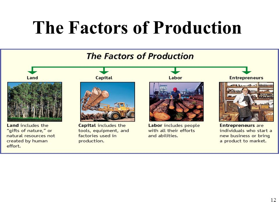 The Factors of Production 12