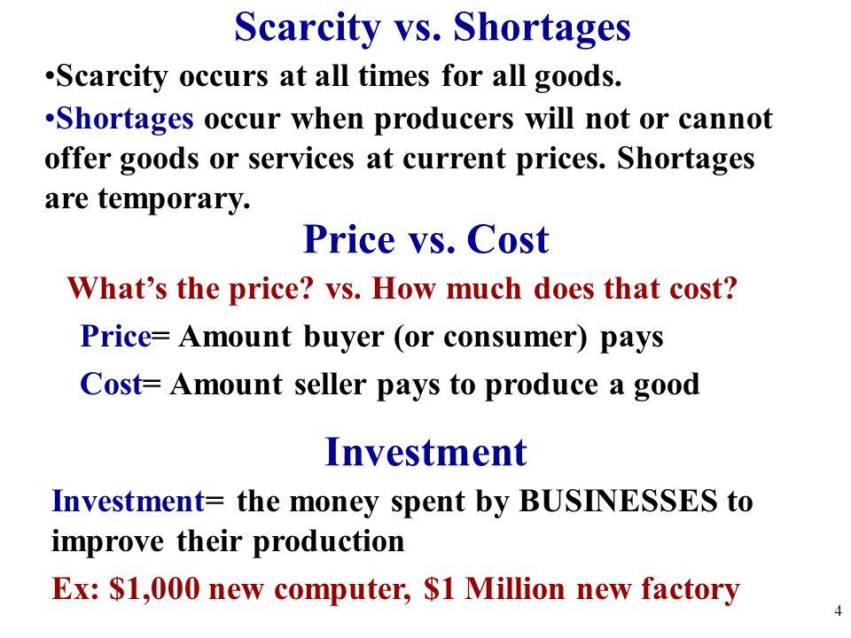 Scarcity vs.