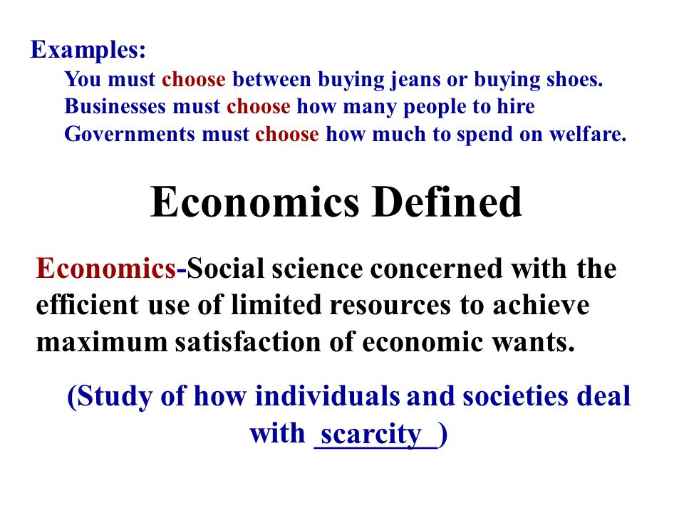 Keep in Mind… McConnell and Brue, page 6- In spite of the practical benefits, economics is mainly an academic, not a vocational, subject…economics is NOT primarily a how-to-make-money area of study.