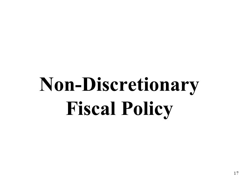 Non-Discretionary Fiscal Policy 17