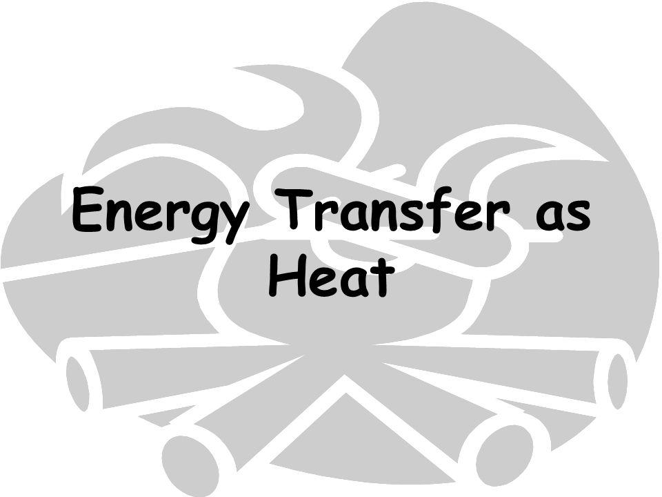 Energy Transfer as Heat