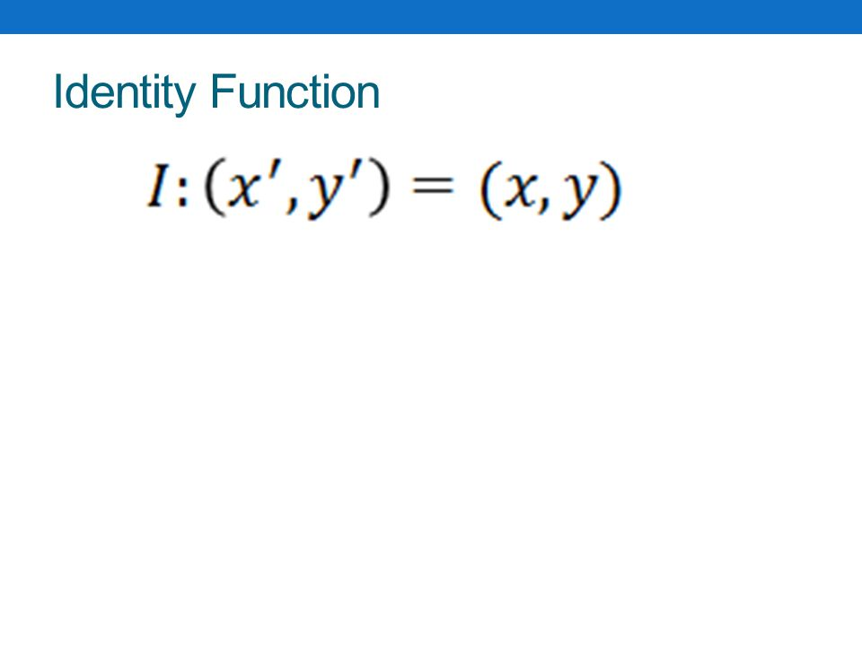 Identity Function Graph Identity Function