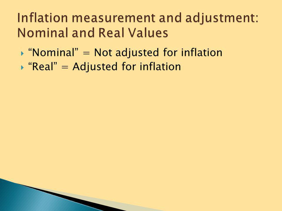 " Main measure of inflation is the CPI ◦ Calculated by the Bureau of Labor Statistics ◦ Establishes the rate of inflation by comparing prices of a ""ma"