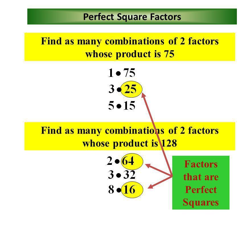 Perfect Squares – Index 2 12 144 11 121 100 10 9 9 81 8 8 64 7 7 49 6 6 36 5 5 25 4 4 16 3 3 9 4 2 2 1 1 1