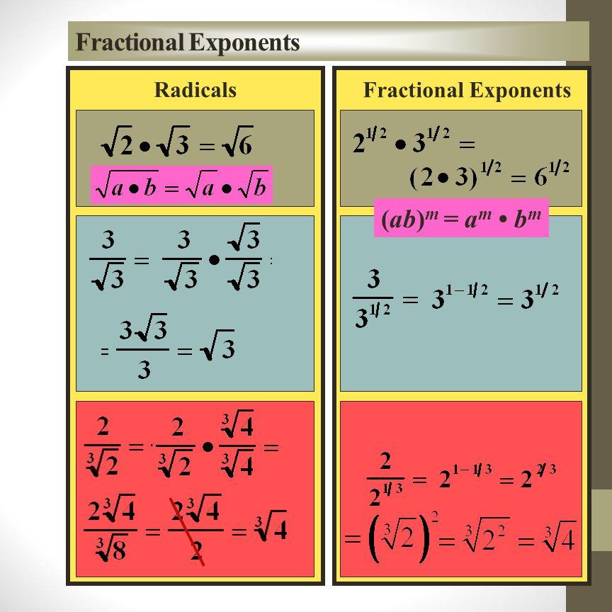 square root - n th root - = k 1/n cube root - Indices and Rational Exponents k 1/2 k 1/2 = k 1/2 + 1/2 = k 1 = k k 1/3 k 1/3 k 1/3 = k 1/3 + 1/3 + 1/3 = k 1 = k k 1/n k 1/n k 1/n...