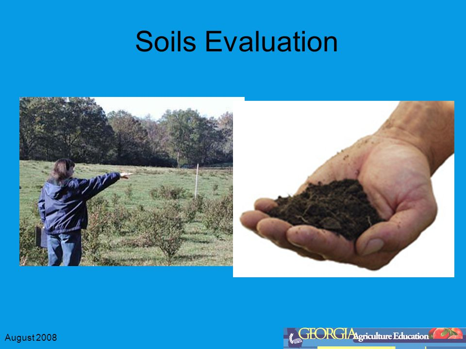 August 2008 Soils Evaluation