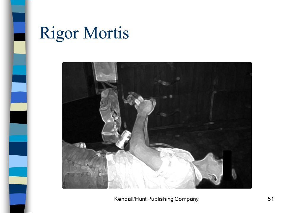Kendall/Hunt Publishing Company51 Rigor Mortis