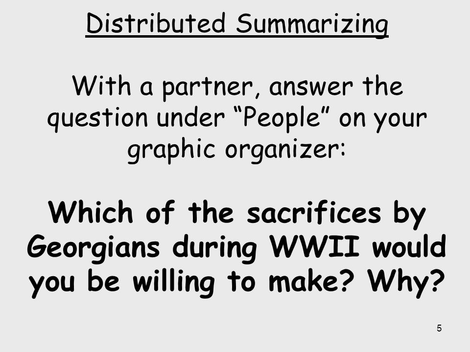 16 Distributed Summarizing With a partner, answer the question under Air Support on your graphic organizer: If Robin's Air Service Command and Bell Aircraft were not established, how would it have impacted World War II.