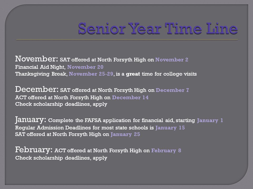  Please refer to the back of your Senior Timeline for Balfour Graduation information.
