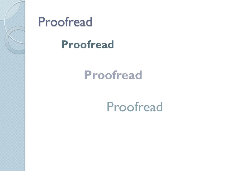 Proofread Proofread
