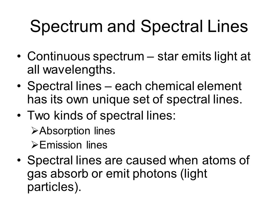 Elements in Stars and Gas Clouds Determined by using a spectrograph.