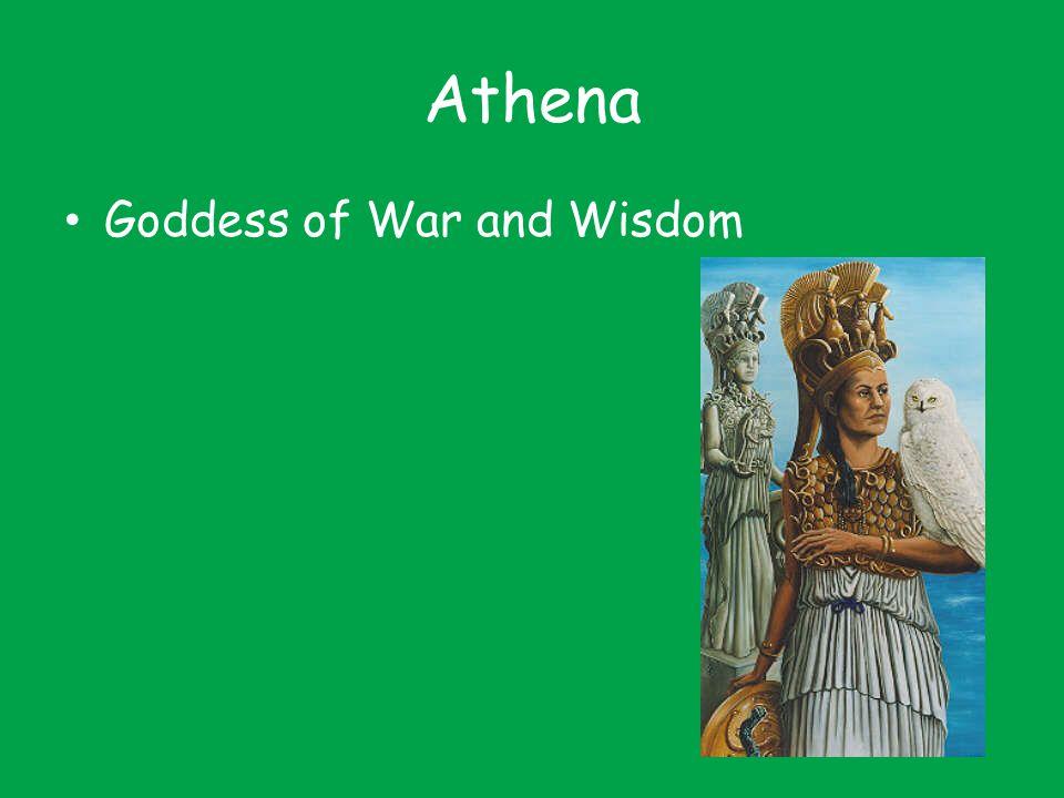 Athena Goddess of War and Wisdom