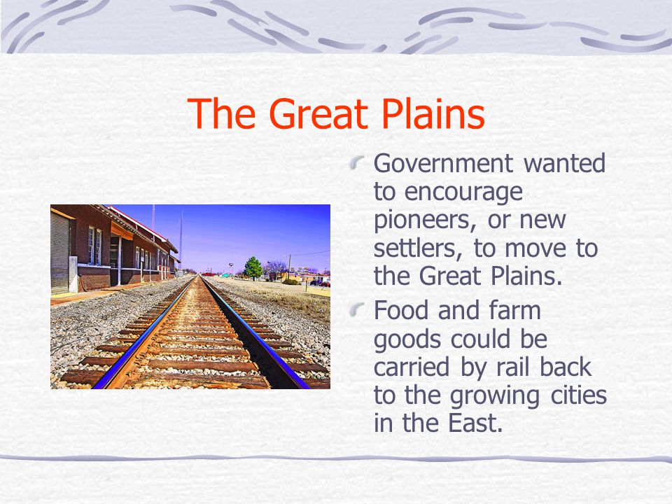 Homestead Act Law offered free land (160 acres) to American citizens and immigrants who were willing to start new farms in the Great Plains.