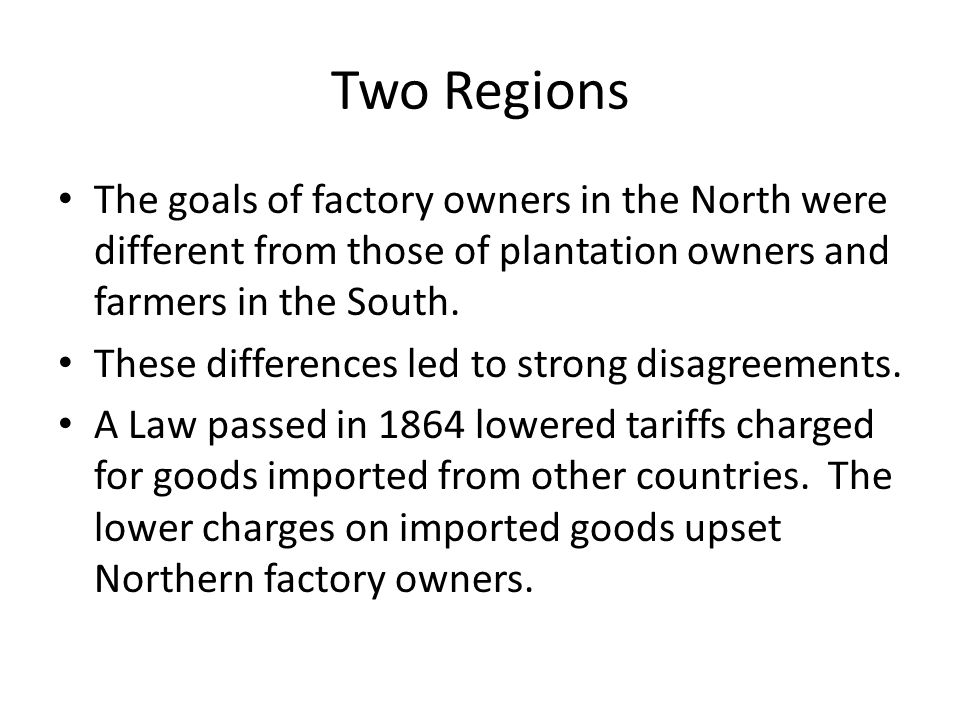 Two Regions Tariffs: A taxation imposed on goods and services imported into a country.