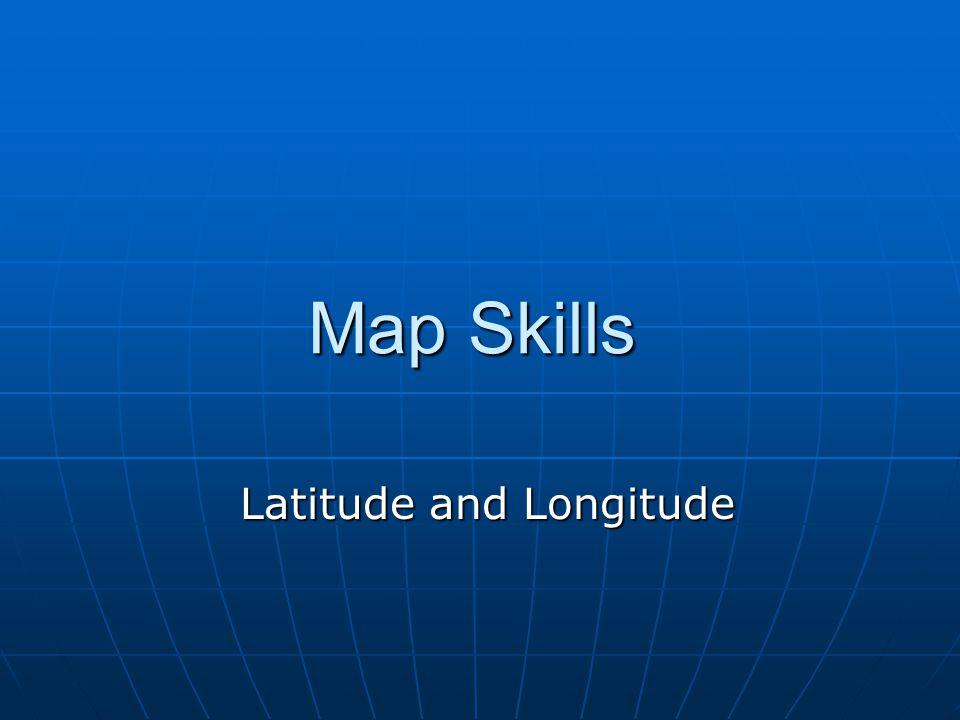 Map Skills Latitude and Longitude