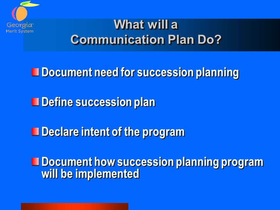 What will a Communication Plan Do.