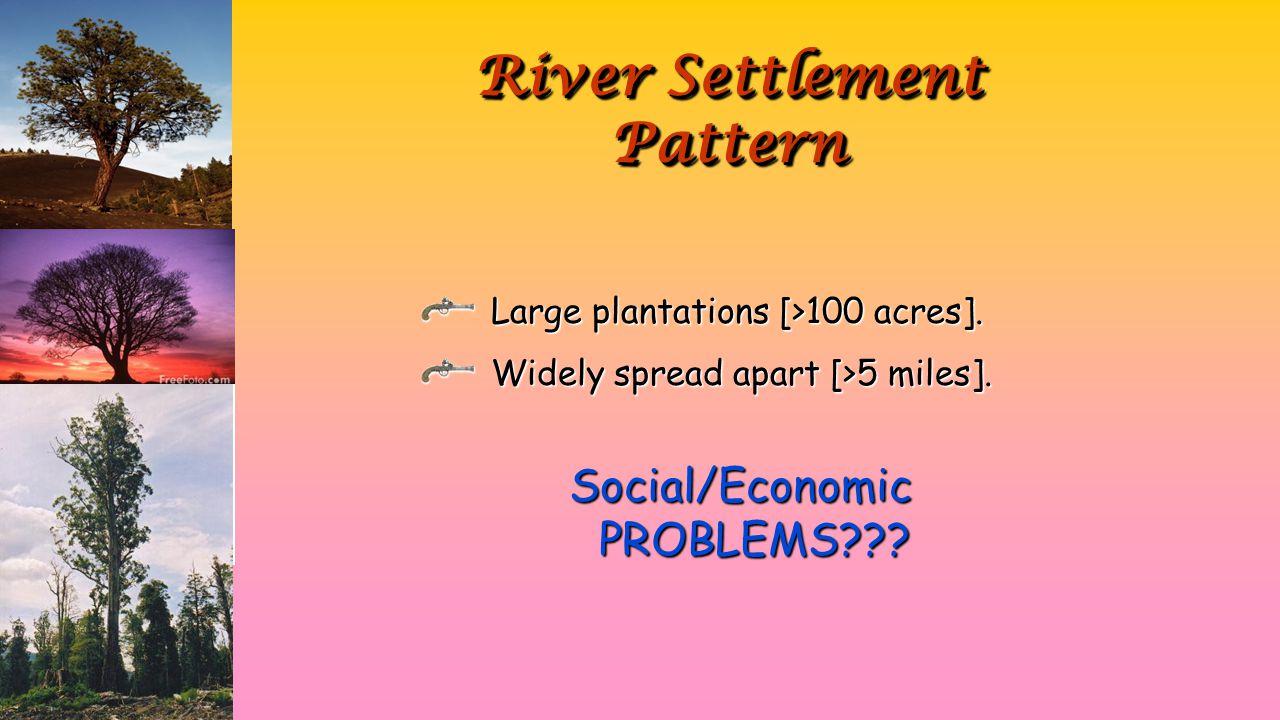 River Settlement Pattern Large plantations [>100 acres].