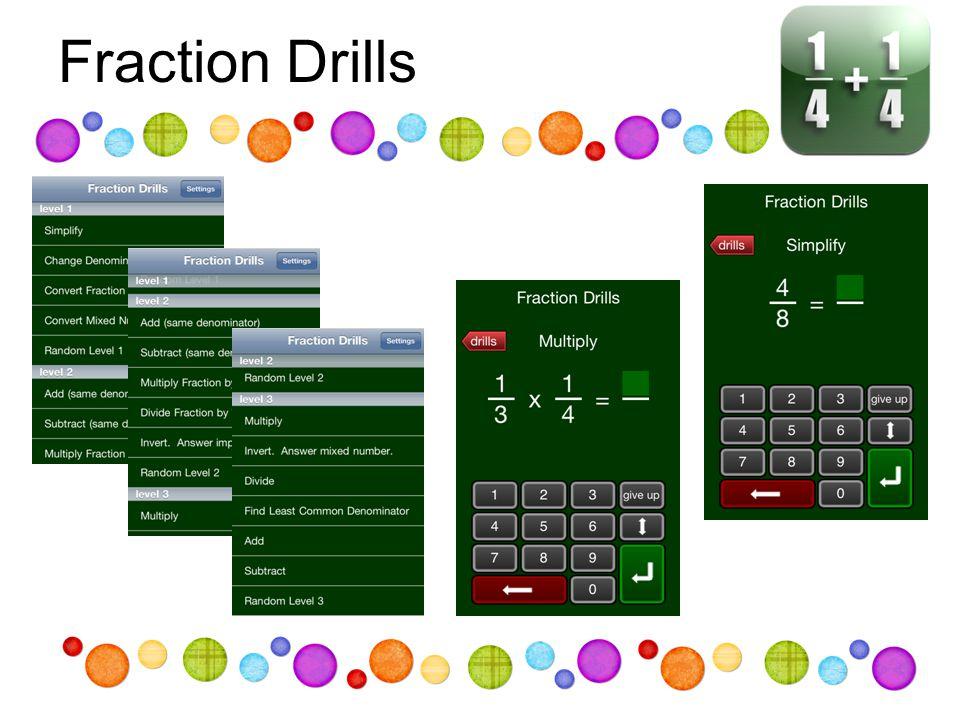 Fraction Drills
