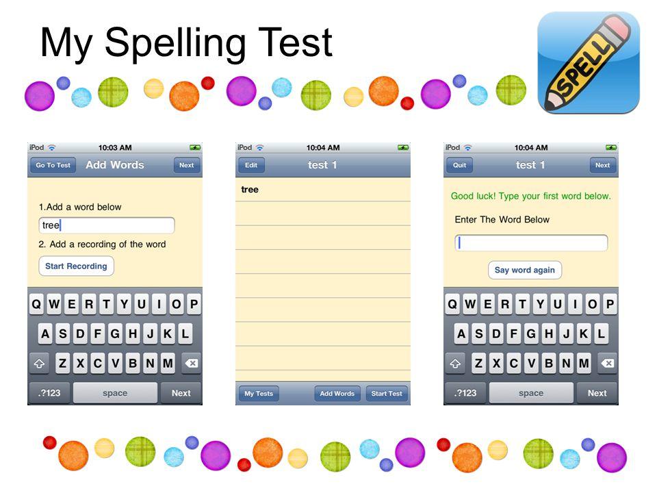 My Spelling Test
